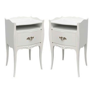 John Widdicomb White Lacquer Nightstands, Usa, 1960s For Sale