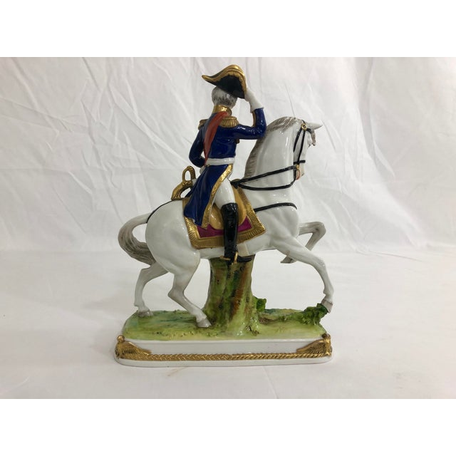 French German Porcelain Statue of Napoleonic General Davoust For Sale - Image 3 of 8