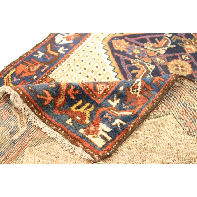 Persian 1920s Vintage Persian Malayer Design Rug - 3′5″ × 12′ For Sale - Image 3 of 10