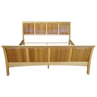 Copeland Furniture Sarah Maple & Cherry King Sleigh Bed Shaker Style For Sale