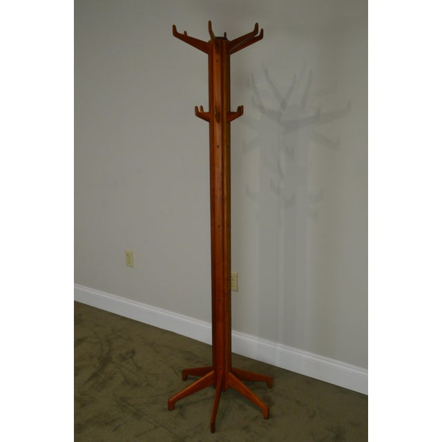 *STORE ITEM #: 18923 Studio Crafted Solid Cherry Clothes Tree AGE / ORIGIN: Approx. 40 years, America DETAILS /...