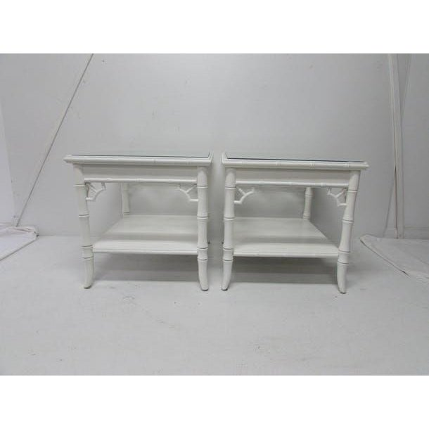 Baker Chinese Chippendale Lacquered Side Tables - A Pair - Image 5 of 6