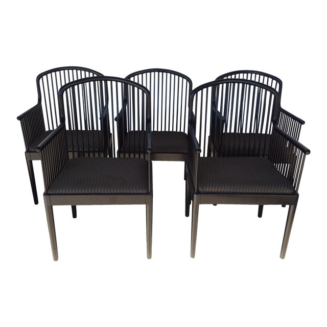 Mid Century Andover by Stendig Arm Chairs- Set of 5 For Sale