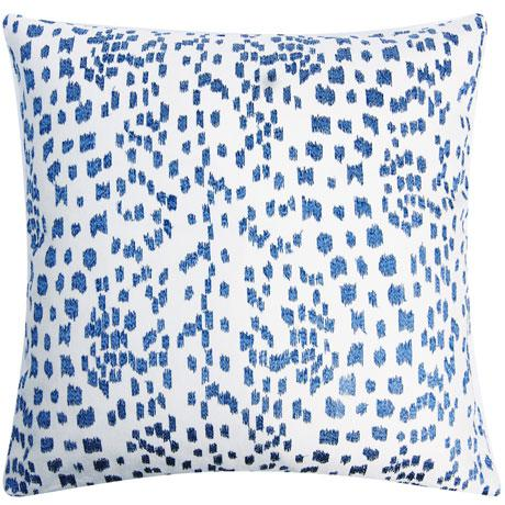 This is a richly embroidered pillow cover with a leopard print against an ivory linen. The pattern is Les Touches by...