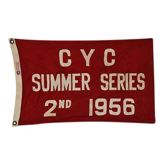 Vintage 1956 Cleveland Yacht Club Trophy Flag