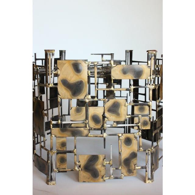 Marc Creates Vintage Brutalist Metal Coffee Table - Image 3 of 8