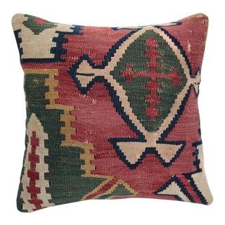 Turkish Vintage Kilim Pillow Cover For Sale