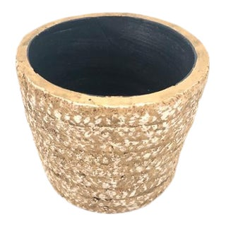 Modern Woven Ceramic Planter For Sale