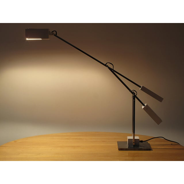 1970s Robert Sonneman Articulated Table Lamp For Sale - Image 5 of 9