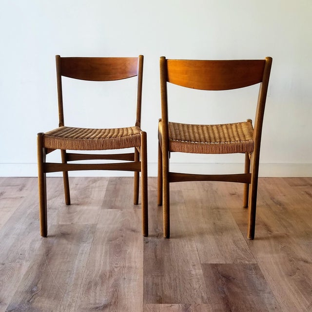 Swedish Mid-Century Modern Rope Dining Chairs - a Pair For Sale - Image 4 of 13