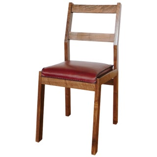 Sluyters Walnut and Leather Dining Chair For Sale