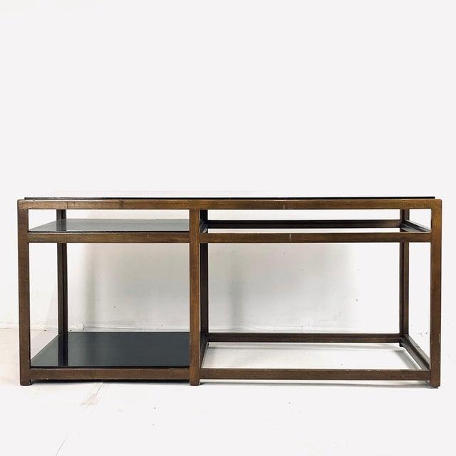 Dunbar Furniture Edward Wormley for Dunbar Black Micarta & Ash Model 5403 End Table W/ Shelf For Sale - Image 4 of 8