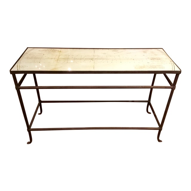 Currey & Co. Aquarius Console Table Pair Available - Image 1 of 10