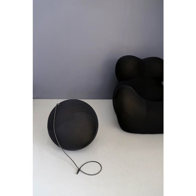 Gaetano Pesce for B&b Italia Up5 Black Lounge Chair and Ottoman, Restored 1970s For Sale - Image 6 of 9