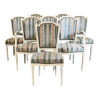 Set of 8 Antique French Directoire Chairs Includes 2 Armchairs For Sale