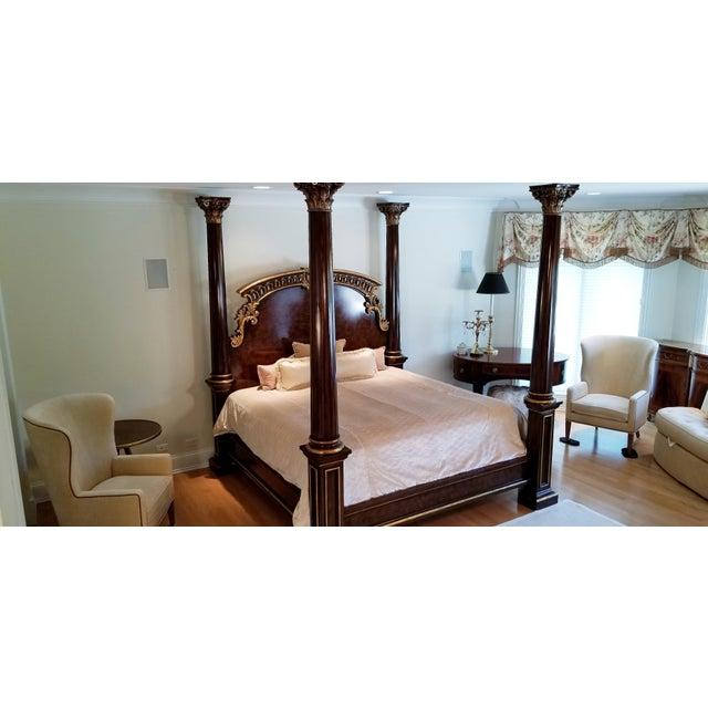 Chestnut Traditional Henredon Arabesque Bedframe For Sale - Image 8 of 13