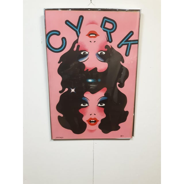 Pink 1974 Cyrk Conjoined Girls Original Poster by Witold Jnowski From Poland, Framed For Sale - Image 8 of 8