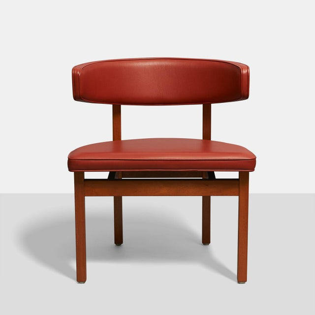 1950s Borge Mogensen set of 8 Dining or Conference chairs For Sale - Image 5 of 6