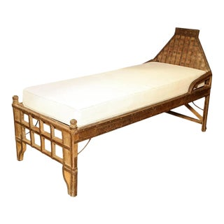 Superb 19th Century Indian Iron Mounted Bed For Sale