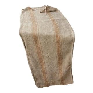 Rustic Caramel Linen Hemp Grain Sack Bag For Sale