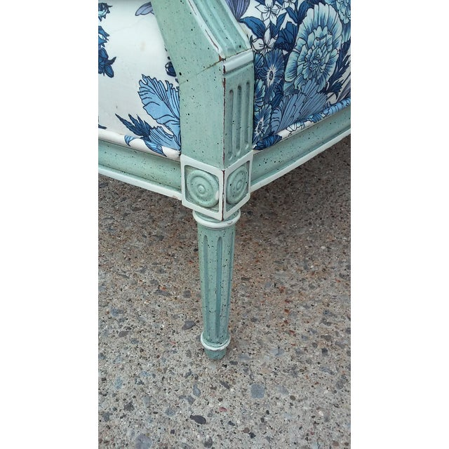Wood French Cane Back Settee For Sale - Image 7 of 9