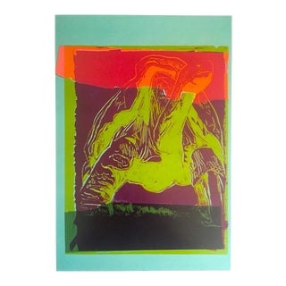 "Andy Warhol Estate Rare Vintage 1991 Collector's Lithograph Print "" Galapagos Tortoise - Vanishing Animals "" 1986 For Sale"