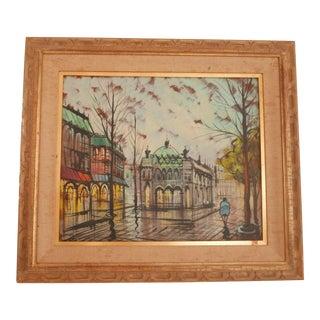 Vintage Paris Painting