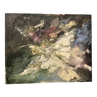 Vintage Abstract Impasto Painting For Sale