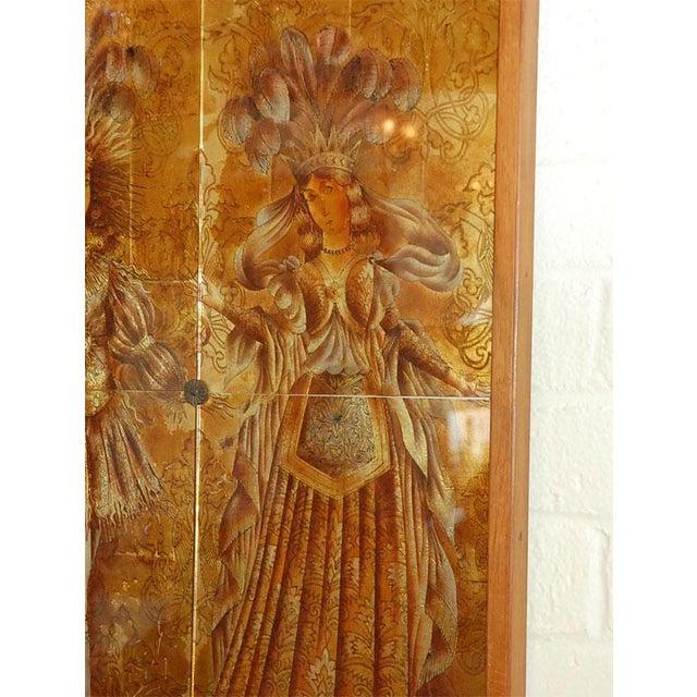 1950s Italian Mid-Century Églomisé Panel For Sale - Image 5 of 9
