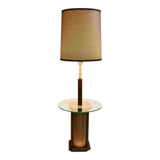 Mid-Century Modern Glass Table Floor Lamp For Sale