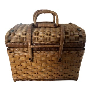 Natural Wicker Rattan Picnic Basket