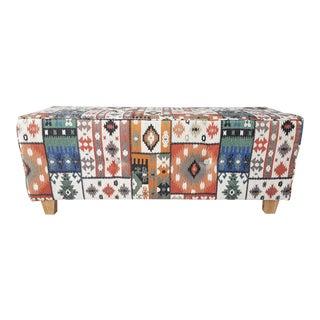 Kilim Rug Style Ottoman Bench For Sale