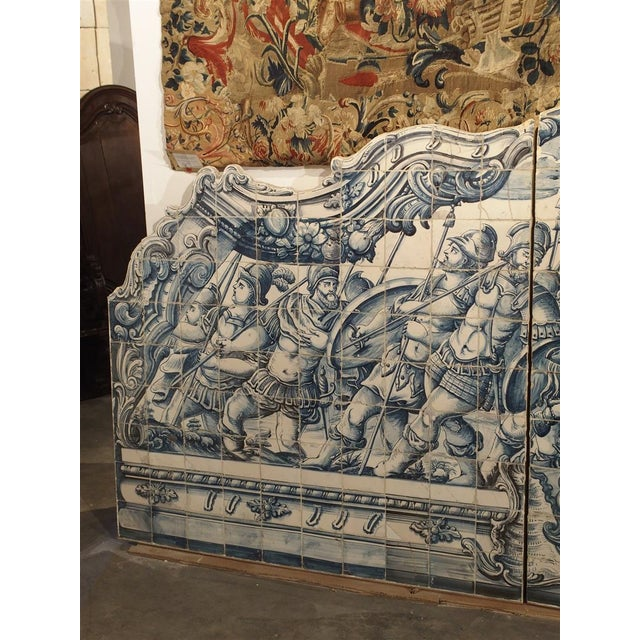 Monumental 3-Piece 18th Century Azulejo Mural Panel From Portugal For Sale In Dallas - Image 6 of 13