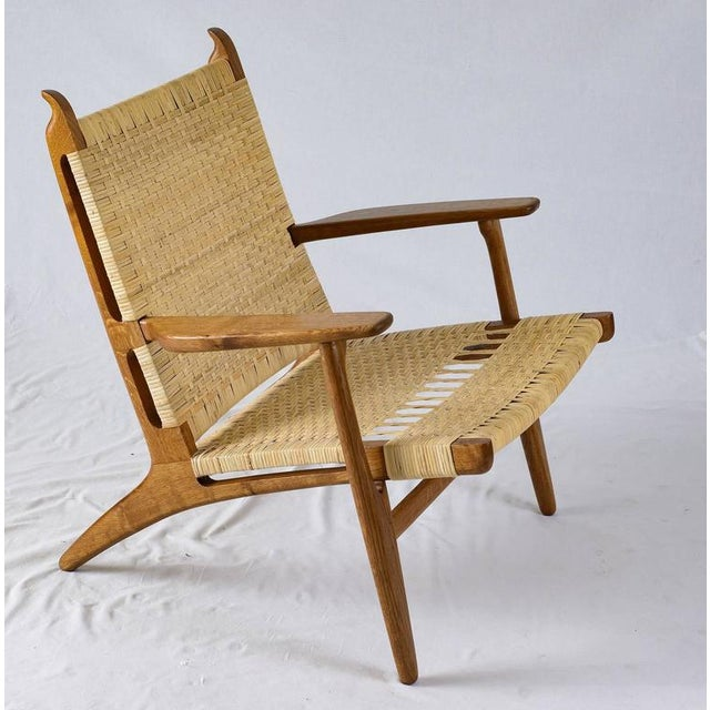 Mid-Century Modern Hans Wegner CH-27 Lounge Chair For Sale - Image 3 of 10