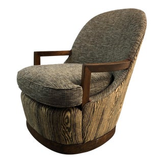 Vintage Mid-Century Scandinavian Upholstered Side Chair For Sale