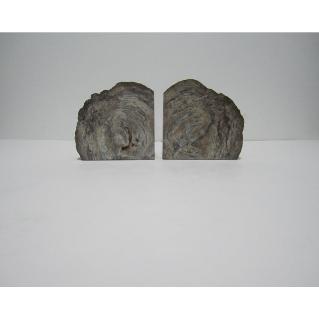 Vintage Gray Geode Bookends - A Pair - Image 6 of 7