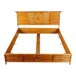 E. Murio Malacca Rattan Cane Bed Frame For Sale