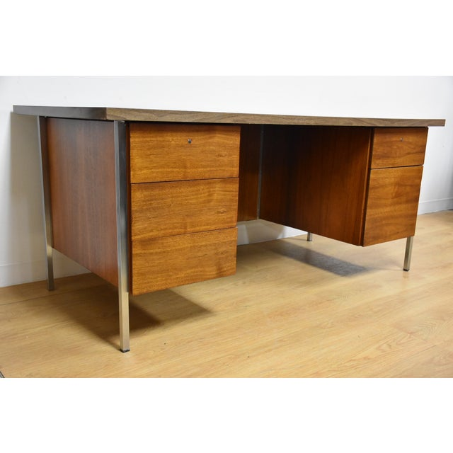 Mid-Century Modern Knoll Office Desk For Sale - Image 3 of 11