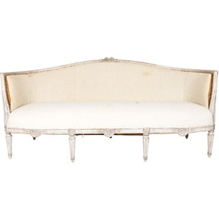 White Painted Gustavian Style Sofa Preview