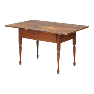 1830s Antique American Painted Tavern Table