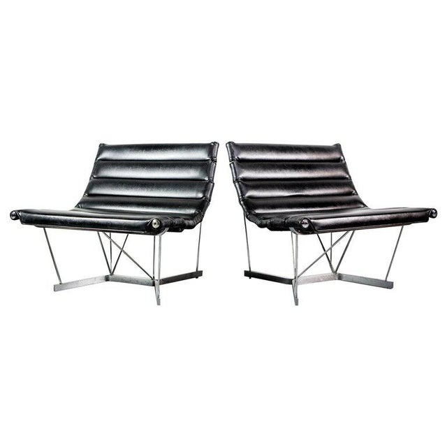 Metal Rare Pair of Catenary Chairs by George Nelson for Herman Miller For Sale - Image 7 of 7