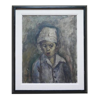 """George Chann """"Portrait of a Boy"""" Painting For Sale"""