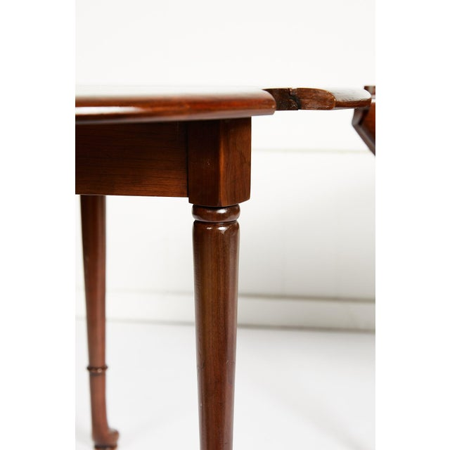Wood Pair of Vintage Statton Drop Leaf Tea Tables of Solid Cherry For Sale - Image 7 of 12
