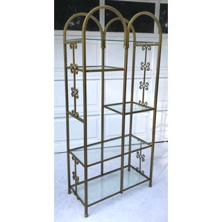 1950's Mid-Century Double Arched Gold Display Etagere Preview