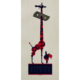 1923 Austrian Art Deco Poster, Elysium Klinger (Giraffe) For Sale