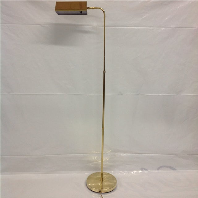 Mid Century Adjustable Brass Pharmacy Lamp. Great for your home or office!