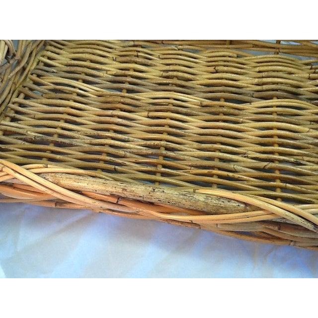 Vintage Decorative Rattan Tray - Image 5 of 8