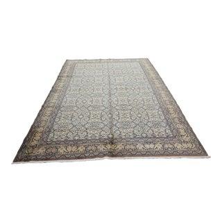 Handmade Double Knotted Turkish Floor Rug-Flower Design Rug For Sale