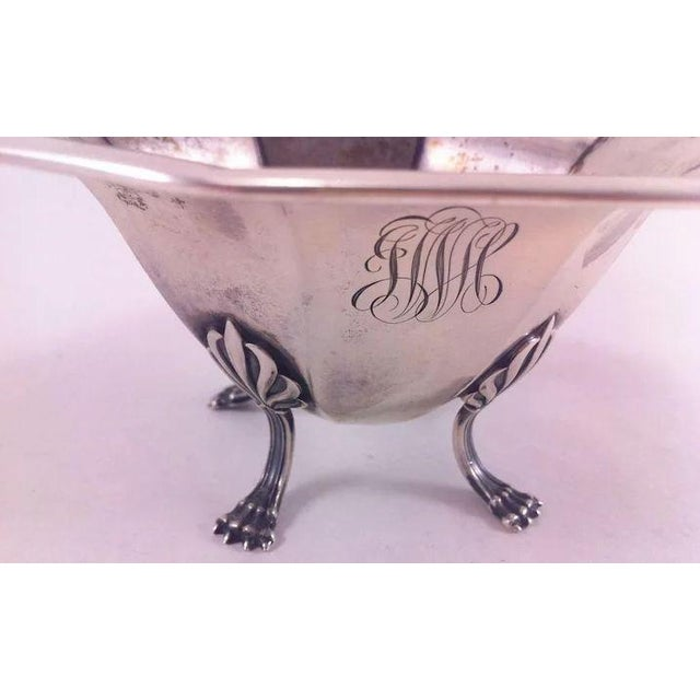 Sterling Silver Bowl With Paw Feet For Sale - Image 4 of 10