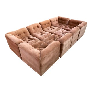 1970s Ten-Piece Sectional Sofa Pit in the Style Milo Baughman For Sale